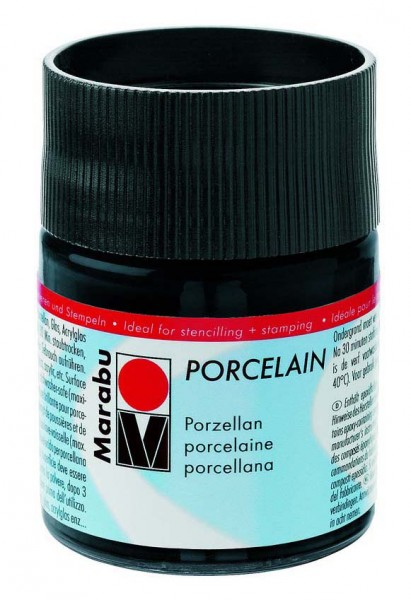 Porcelain Porzellanmalfarbe von Marabu, 50 ml, Preis pro Flasche