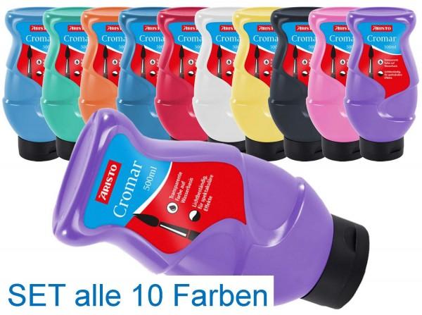 Metallic-Cromar Set, 10 x 500 ml in 10 Farben