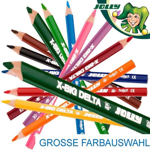 Jolly Supersticks X-BIG DELTA 3-kant Dickkernbuntstifte, Packung mit 12 Stück pro Farbe