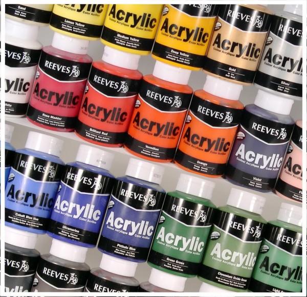 Acrylfarben SET von Reeves mit 12 Farben je 400 ml
