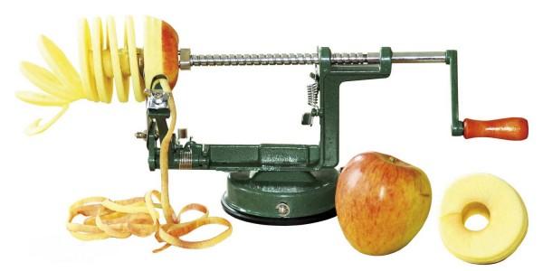 Apfelschäler - das Schälen, Entkernen und Schneiden erledigt ein einziges Gerät
