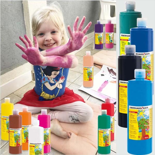 Fingerfarben Efa Color SET mit allen 14 Farben, je 750 ml