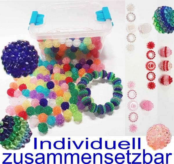 Plast Zauberperlen, individuell zusammensetzbar, Plastikdose mit 200 Gramm
