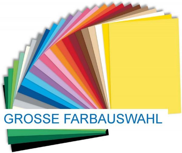 Tonpapier/Naturpapier 130 g/qm von Folia, Format 50 x 70 cm, 54 Farben, Preis pro 10er-Pack