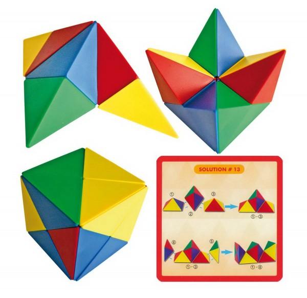 Magnetwürfel zum Konstruieren mit 21 Vorlagenkarten, Preis pro Stück