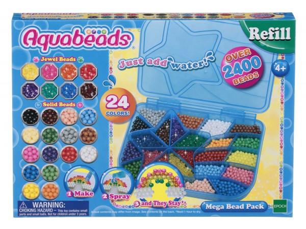 Aquabeads Maxi Nachfüllbox, 2400 Perlen in 24 Farben
