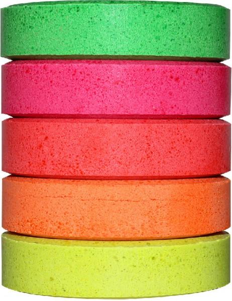 Wasserfarben-Blocks 44 mm, 5 Neon-Farben
