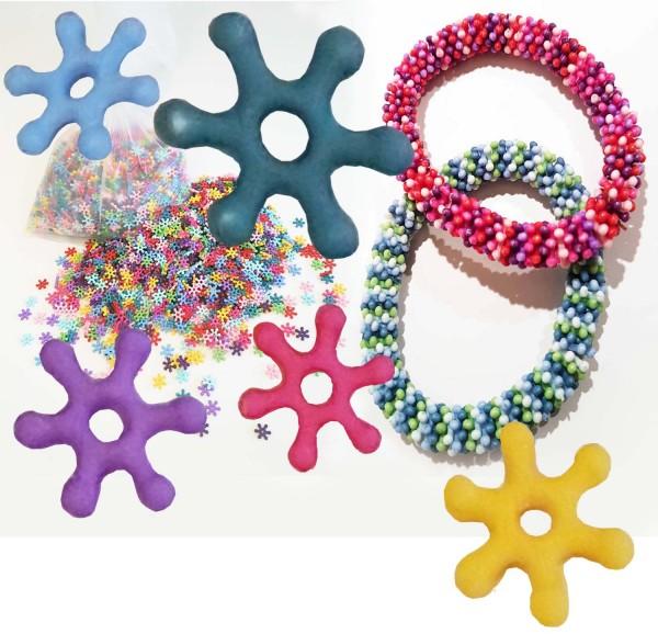 Blumen-Streuperlen zum Fädeln von Armbändern, Halsketten, Schlüsselanhänger, etc., 200 g