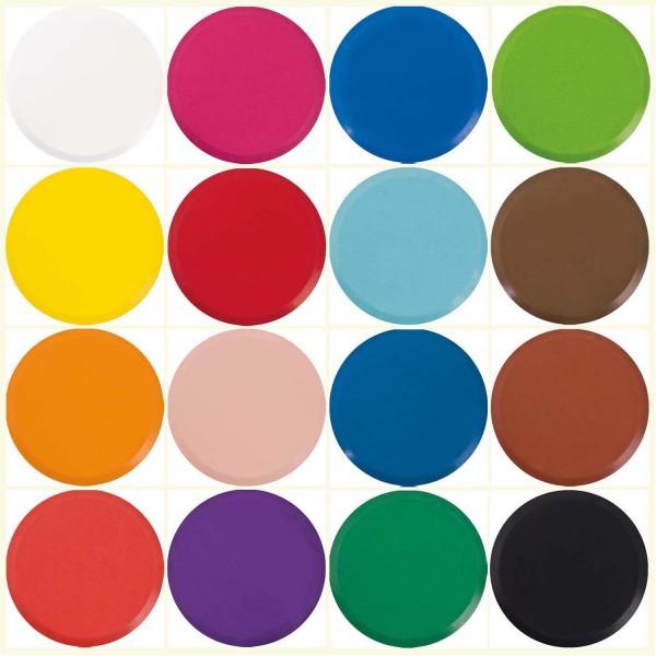 Wasserfarben-Blocks/Farbtabletten 44 mm Durchmesser, 5 Stück einer Farbe