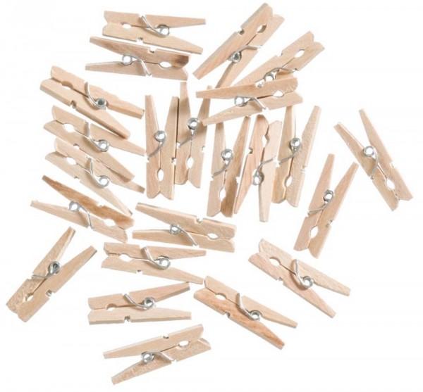 Holzklammern naturfarben