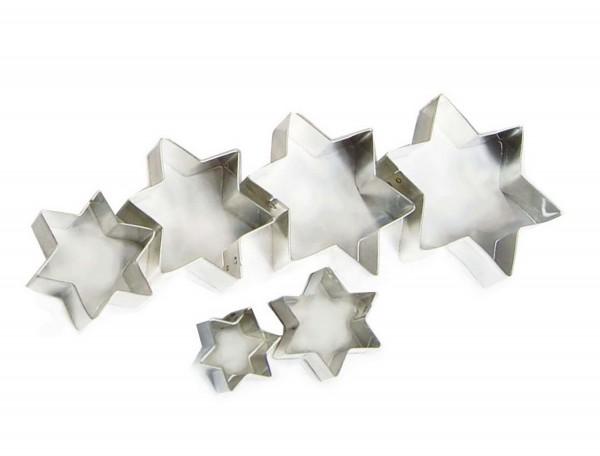 Ausstechformen Stern, ca. 2,5 - 8 cm, 6 Stück
