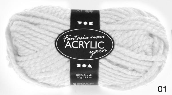 Acryl Wolle Maxi, 50 g, 2-fädig, 35 Laufmeter, Preis pro Knäuel