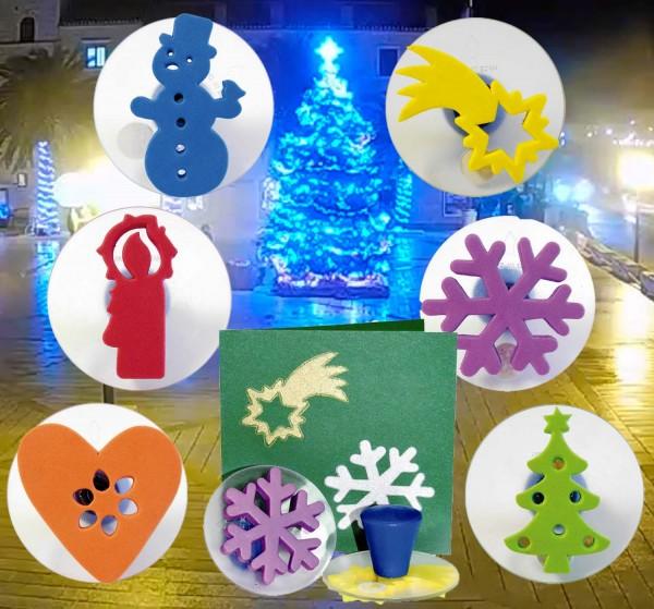 Riesenstempel Weihnachten, 6 Stück