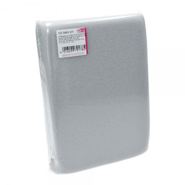 Unterlage aus Schaumstoff zum Prickeln und Nadelfilzen, 21 x 14,8 x 5 cm, dunkelgrau