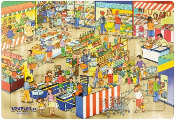 Puzzle Markt, Material: Karton, 45 x 30 cm, 35 Teile
