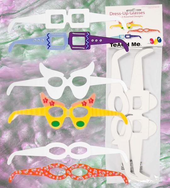 Brillen aus weißem Karton 230 g