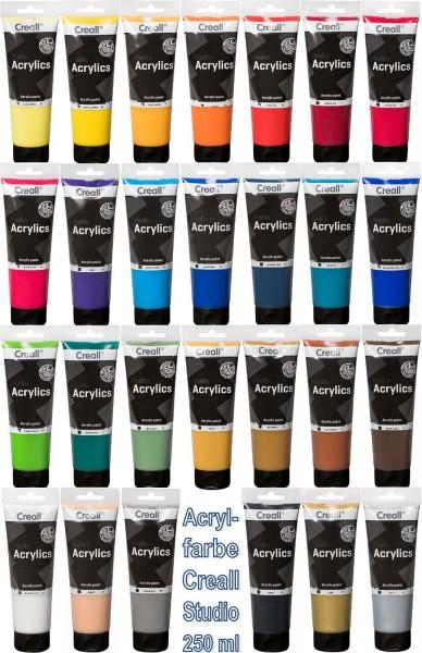 Acrylfarbe Creall Studio SET mit allen 27 Farben, 250 ml Tube pro Farbe