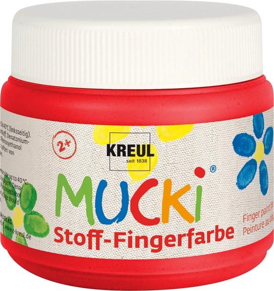Mucki Stoff-Fingerfarben von Kreul, 150 ml Dose