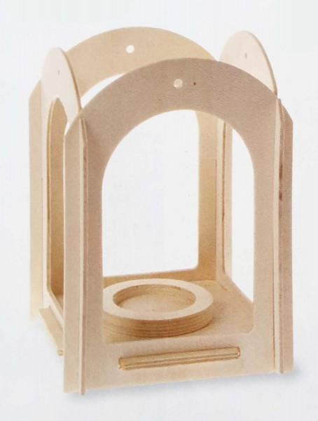 Holzlaterne Stecksystem-Bausatz, 12 x 12 x 17 cm