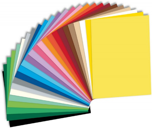 Tonpapier/Naturpapier SET von Folia, 130 g, 52 Farben Format 50 x 70 cm je 10 Blatt