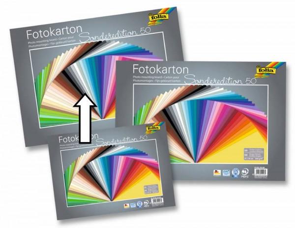 Fotokarton 300 g/qm, Sonderedition, 50 Blatt in 50 Farben
