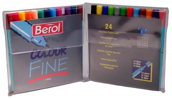 Berol Filzstifte Colour Fine - Etui 24 Farben