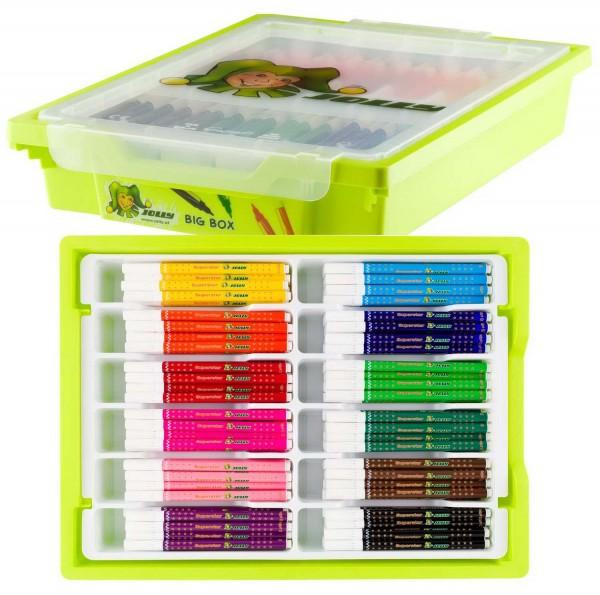 Jolly Big Box Superstars, Grundfarben, Box mit 180 Stiften