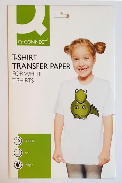 T-Shirt Transfer Papier Inkjet, für weiße Stoffe, 10 Stück A4