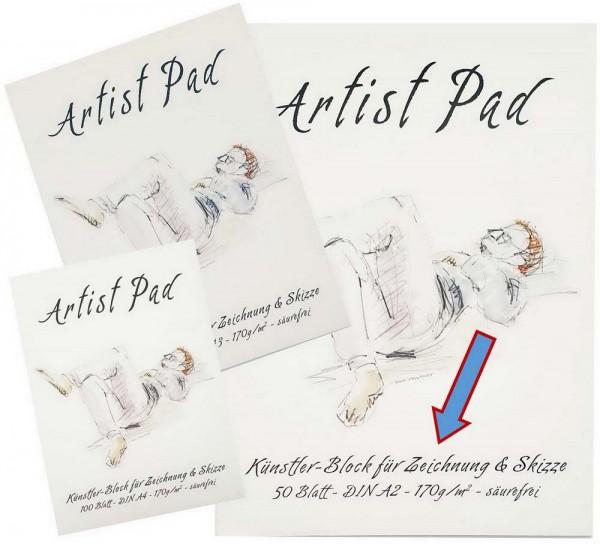 Artist Pad Künstlerzeichenblock 170 g