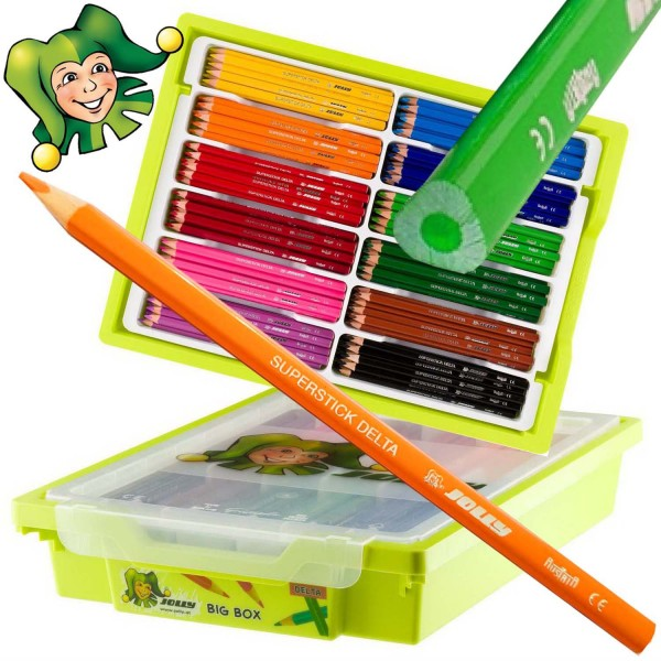 Jolly Supersticks DELTA 3-kant Buntstifte 240 Stück Grundfarben