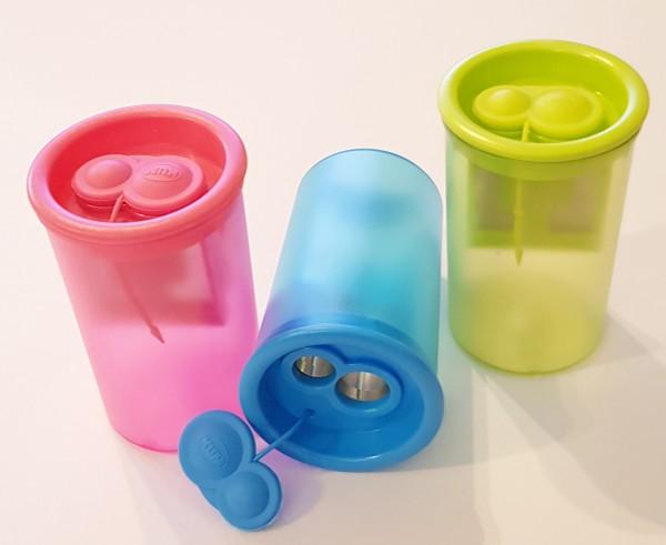 Doppel-Dosenspitzer für kleine Kinderhände, für 8 und 11 mm Stifte, sortiert, Preis pro Stück