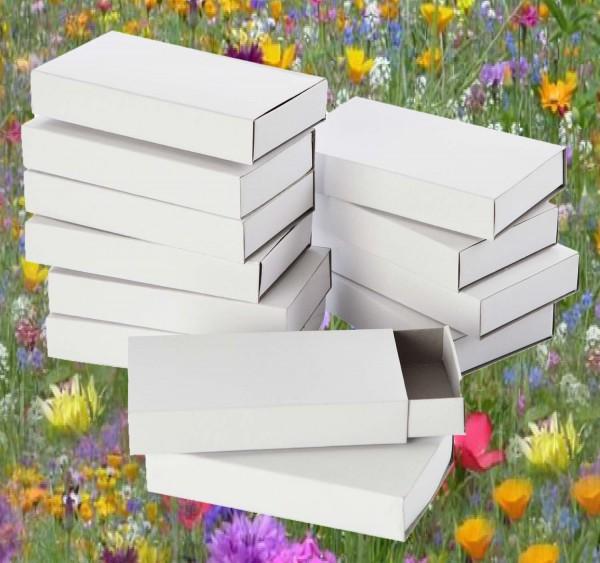 Streichholzschachteln groß, weiß, 11 x 6 x 2 cm, 12 Stück