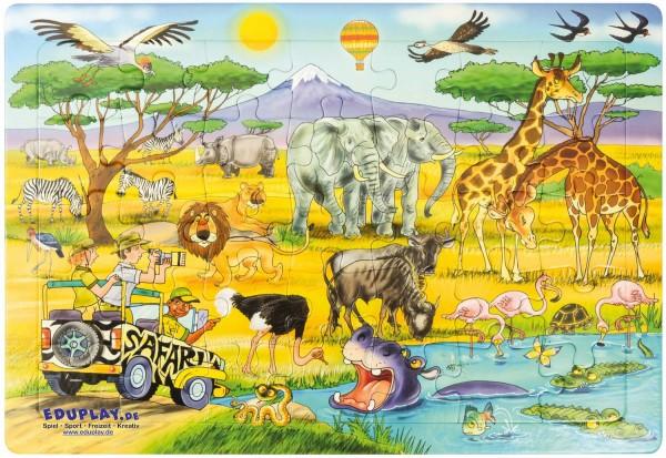 Puzzle Safari, Material: Karton, 45 x 30 cm, 35 Teile