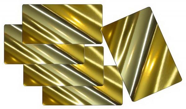 Spiegelkarton 270 g, Format 50 x 70 cm, 5 Bogen in Gold