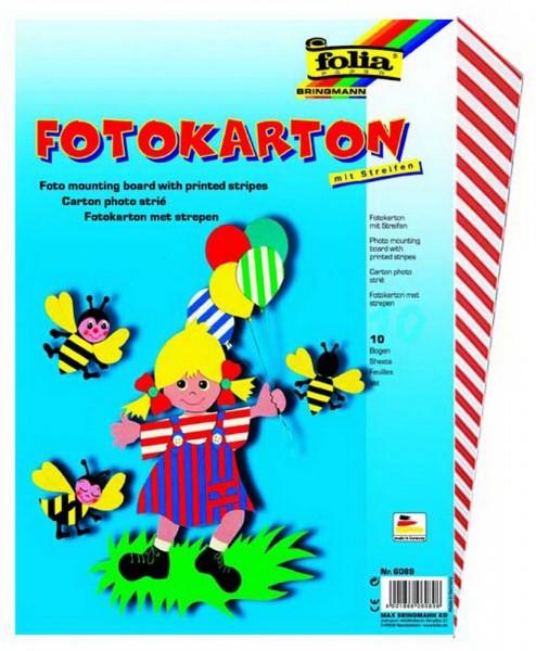 Fotokarton mit Streifen, 300 g, zweiseitig bedruckt, Format 50 x 70 cm, 10 Bogen im gleichen Muster