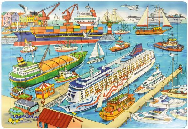 Puzzle Hafen, Material: Karton, 45 x 30 cm, 35 Teile