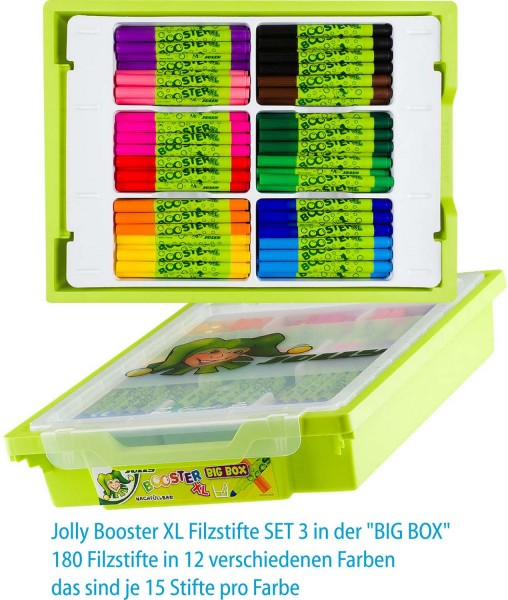 "Jolly Booster XL Filzstifte SET 3 in der ""BIG BOX"""