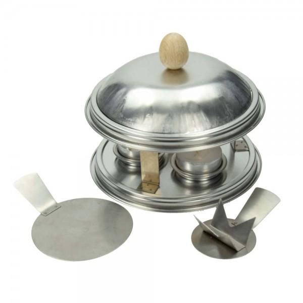 Ofen für Farbschmelzpulver mit 3 Teelichter und Zubehör