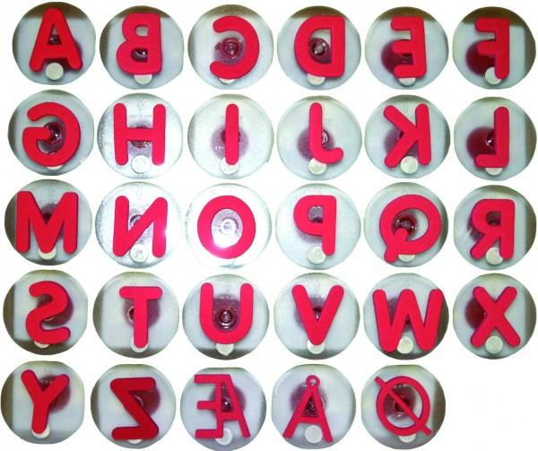 Riesenstempel Groß-Buchstaben,Packung mit 26 Stück