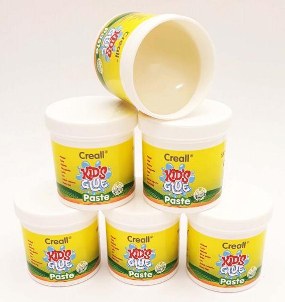 Creall Kids Glue Finger-Klebepaste für Kinder ab 2 Jahren, 6 x 100 g Dose