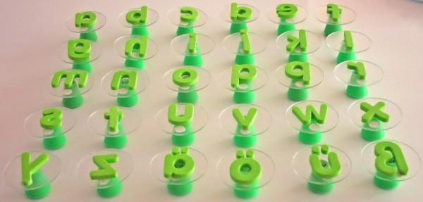 Riesenstempel Klein-Buchstaben,Packung mit 26 Stück