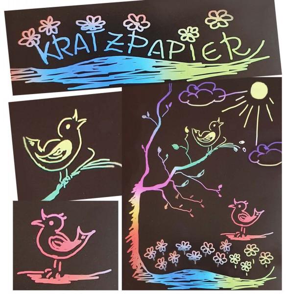 Kratzpapier Regenbogen, 19 x 26 cm