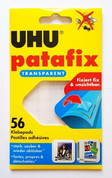 Uhu Patafix Klebepads Transparent, Packung mit 56 Stück
