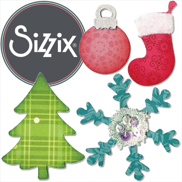 Sizzix Bigz: Christmas Tree, Ornaments, Snowflakes