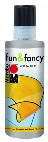 Window Color Fun & Fancy von Marabu, Konturenfarbe silber, 80 ml