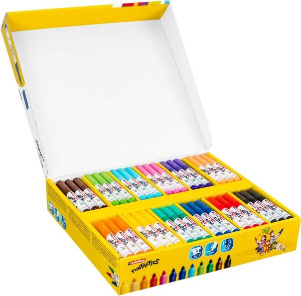 Gruppenpaket Kinderfasermaler Funtastics von Edding, 3mm Strichbreite, 144 Stück in 12 Farben