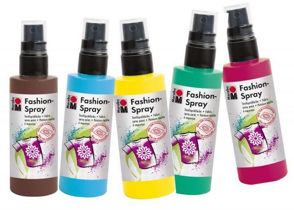 Textilsprühfarbe Fashion-Spray SET von Marabu alle 22 Farben, je 100 ml