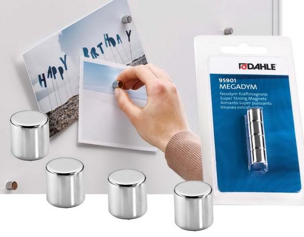 Megadym Magnet Cylinder, 10 x 10 mm, Haftkraft 50 N, 4 Stück