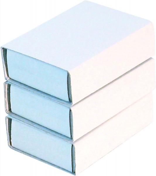 Streichholzschachteln weiß, unbedruckt, 10 Stück