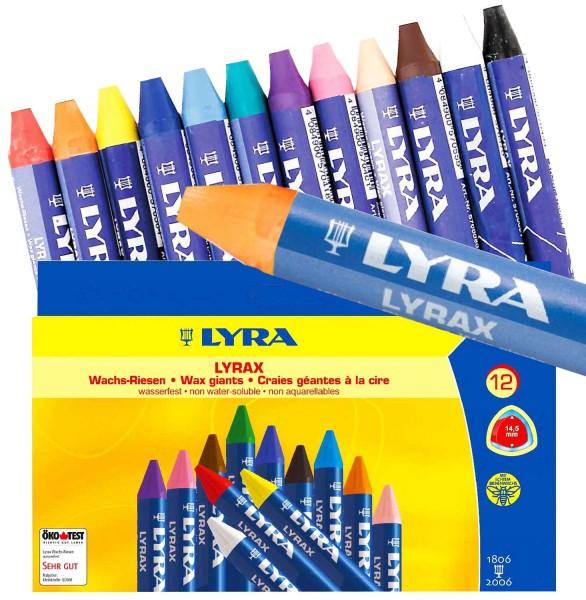 Wachs-Riesen von Lyra, 12 Stück in 12 Farben
